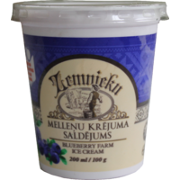 """Farmer`s"" blueberry ice cream (made from sweet cream) in plastic cup with spoon 200 ml"