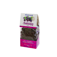 Candied black currants, 500g in plastic bag