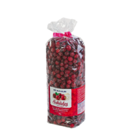 Candied big cranberries, 1kg in plastic bag