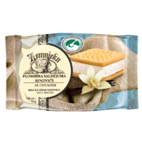 """Farmer`s"" Milk ice cream sandwich with biscuits"