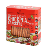 BIO CHICKPEA CRACKERS WITH GARLIC
